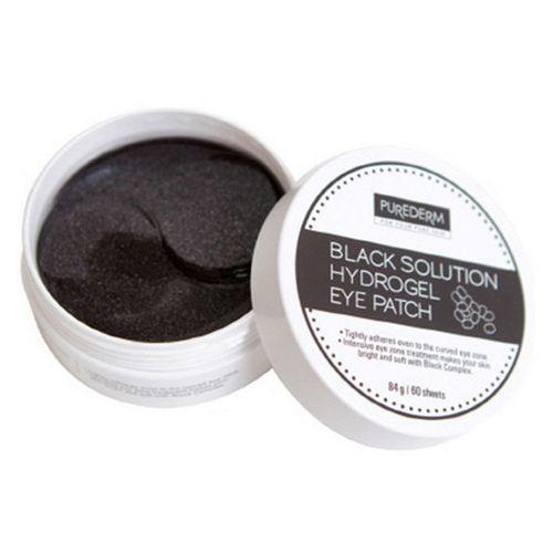 Гидрогелевые патчи с экстрактом чёрного жемчуга PUREDERM Black Solution Hydrogel Eye Patch