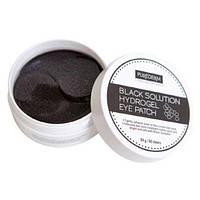 Гидрогелевые патчи с экстрактом чёрного жемчуга PUREDERM Black Solution Hydrogel Eye Patch, фото 1