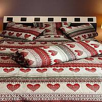 Комплект полуторного постельного белья Сердца 100% хлопок бязь Голд.
