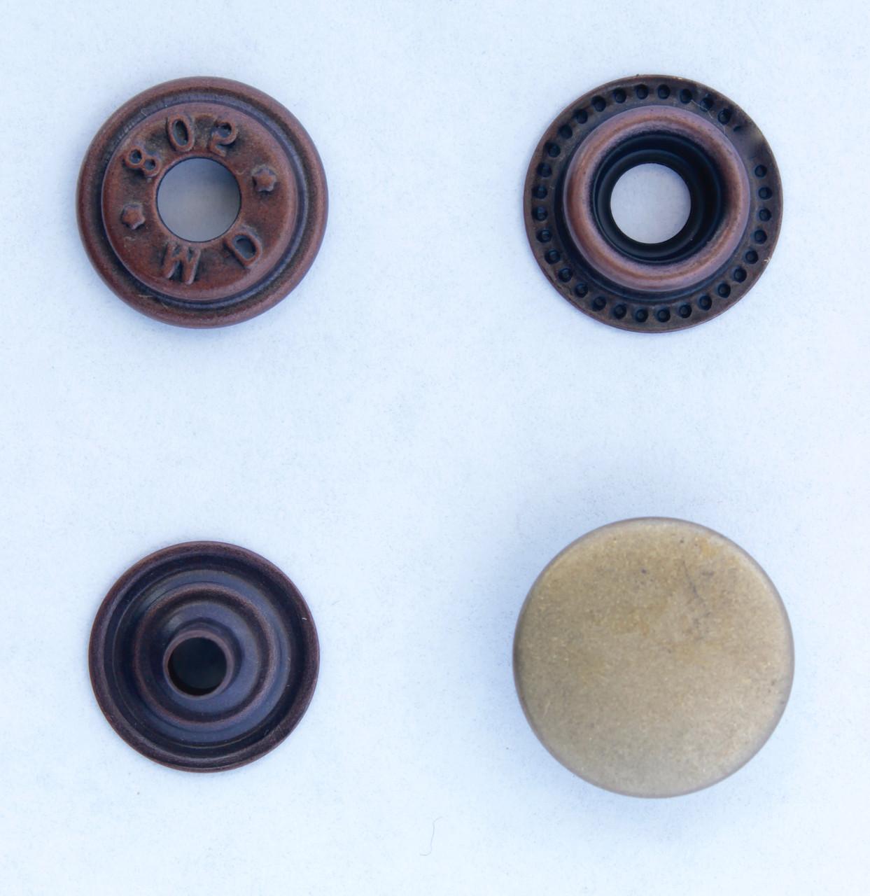 Кнопка каппа, О-образная, Кольцевая 15 мм разные цвета