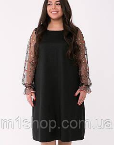 Платье с рукавами из сетки больших размеров (Джоанtn)