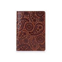 """Янтарная дизайнерская обложка на паспорт ручной работы с художественным тиснением, коллекция """"Buta Art"""""""