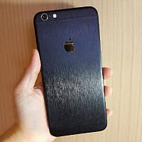 Черный Шлифованный Металл на iPhone 6 и 6s Скин Виниловые Наклейки Защитная Пленка под Метал 3D Винил Стикер