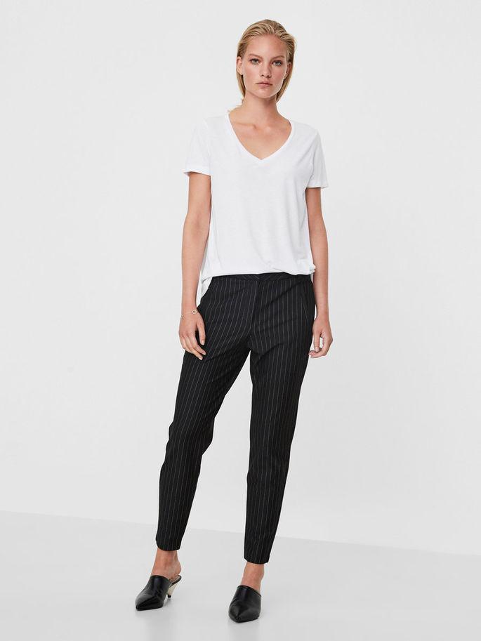 Брюки класик женские бренда Vero moda в полоску черного цвета