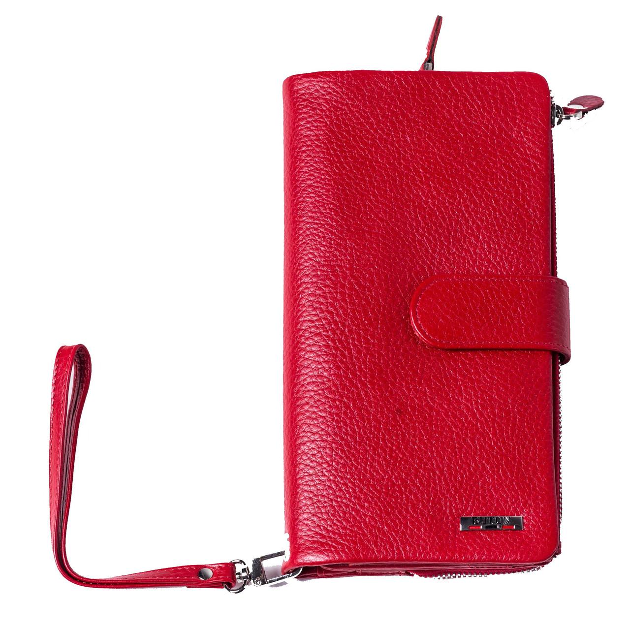Женский клатч кожаный красный BUTUN 022-004-006