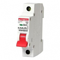 Автоматический выключатель 63A 4,5kA 1 полюс тип B e.mcb.stand.45.1.B63 s001014 E.NEXT
