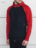 Спортивная толстовка черная с красными рукавами Staff navy and red