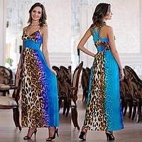 """Нарядное леопардовое длинное платье """"Анита"""""""