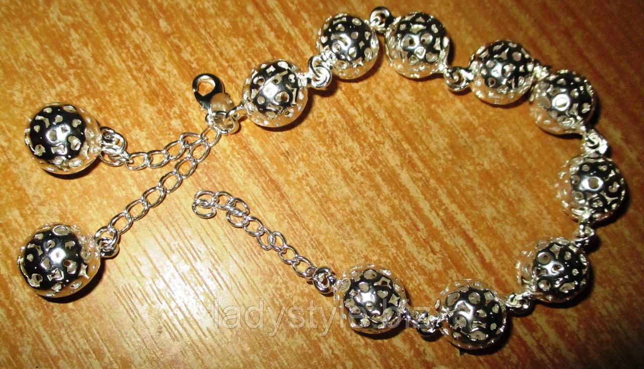 """Необычный серебряный  браслет """"Шар """" от студии LadyStyle.Biz"""