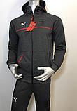 Мужской спортивный костюм Puma из трикотажа копия, фото 2