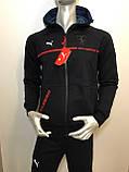 Мужской спортивный костюм Puma из трикотажа копия, фото 3