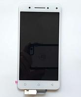 Оригинальный дисплей (модуль) + тачскрин (сенсор) для Lenovo Vibe S1 (белый цвет)