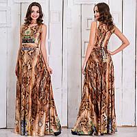 """Женское длинное платье змеиный принт """"Янита"""", фото 1"""