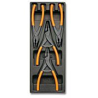 T145 - Набор плоскогубцев для стопорных колец 4 предмета, BETA 024240145