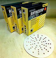 Абразивный диск INDASA RHYNOGRIP Plus Line ULTRAVENT - P240, D150, 57 отверстий.