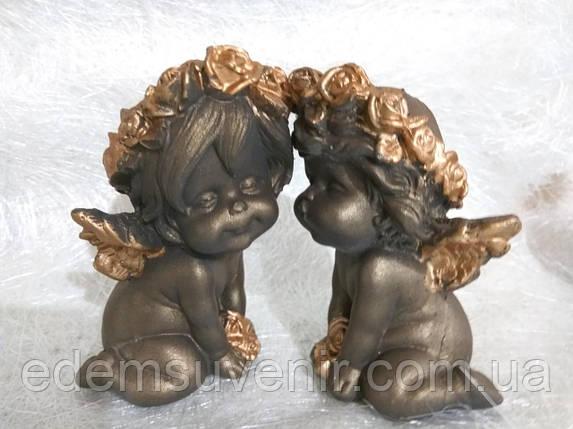 Ангелы Поцелуйчик бронза, фото 2