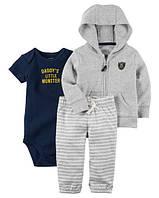 """Набор """"Little""""Carter's для мальчика серый, синий12 мес/72-78 см"""