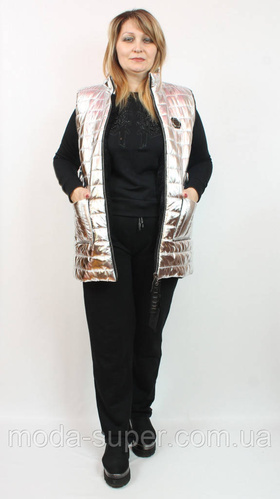 Женский утепленный костюм тройка,Турция,рр 48-56