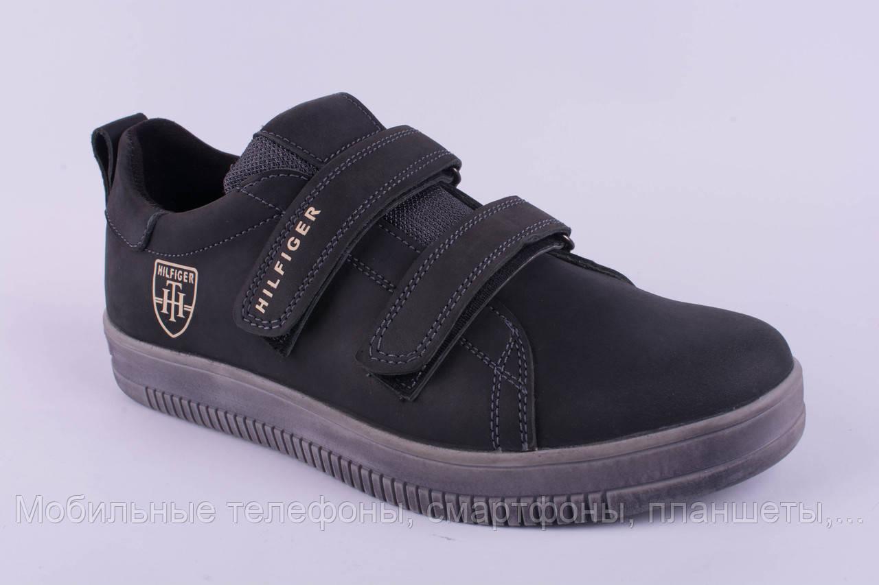 3a476a4e Мужские кроссовки Tommy Hilfiger кожаные серые на липучках 36-40 ...