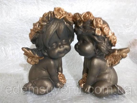Ангелы Поцелуйчик золото, фото 2