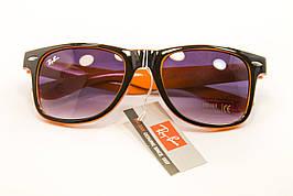 Очки wayfarer черный+оранжевый 7728-2