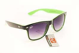 Очки wayfarer черный+зеленый 7728-3
