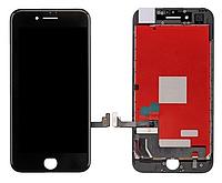 Дисплей iPhone 8 с сенсором (тачскрином) и рамкой, черный, копия