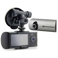 Автомобильный видеорегистратор DVR R300 2 камеры GPS