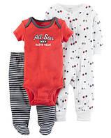 """Набор для самых маленьких """"Стар футболу"""" Carter's для мальчика красный, белый 3 мес/55-61 см"""