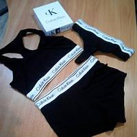 Женское белье комплект тройка Calvin Klein