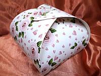 Тортовая упаковка 200х200х170 (принт роза)