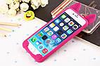 Чехол накладка на iPhone 5/5s/se ярко-розовый котик с хвостиком.