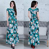 """Довге ошатне плаття з квітами """"Ханна"""", фото 1"""