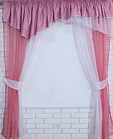 Кухонная занавесь, шторки гардина с подвязками е429, фото 1