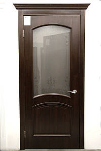 Дверь межкомнатная АНТРЕ СО СТЕКЛОМ САТИН И РИСУНКОМ №2