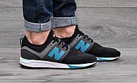 Мужские кроссовки фирменные New Balance 247 RevLite (черные), пена+ текстиль + эко-кожа, ТОП-реплика