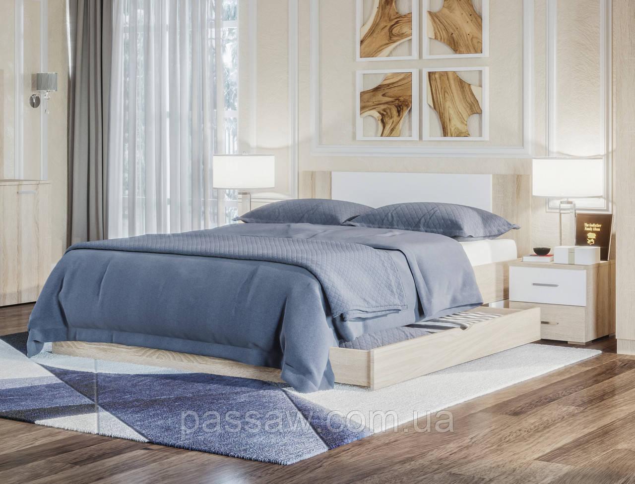 Кровать с ортопедическим каркасом 1,8 Лилея с ящиками