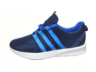Мужские летние спортивные кроссовки Adidas синий