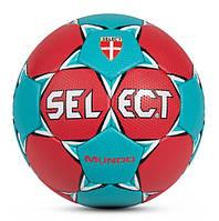 Мяч гандбольный Select Mundo  3, Красно-бирюзовый