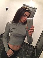 Стильная женская толстовка серого цвета оптом