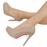 1df5eddc595b 04-10 Серые женские туфли на шпильке Luksusowe Szpilki Annabelle 40,39