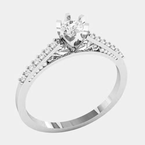 Кольцо  женское серебряное Совершенство КБ-1514