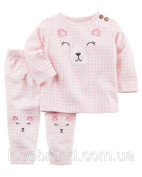 """Набор """"Милый Мишка"""" розовый штанишки и кофточка Carter's для девочки розовый 9 мес/67-72 см"""