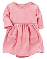 Платье Babysoft Bodysuit Carter's для девочки розовый 18 мес/78-83 см