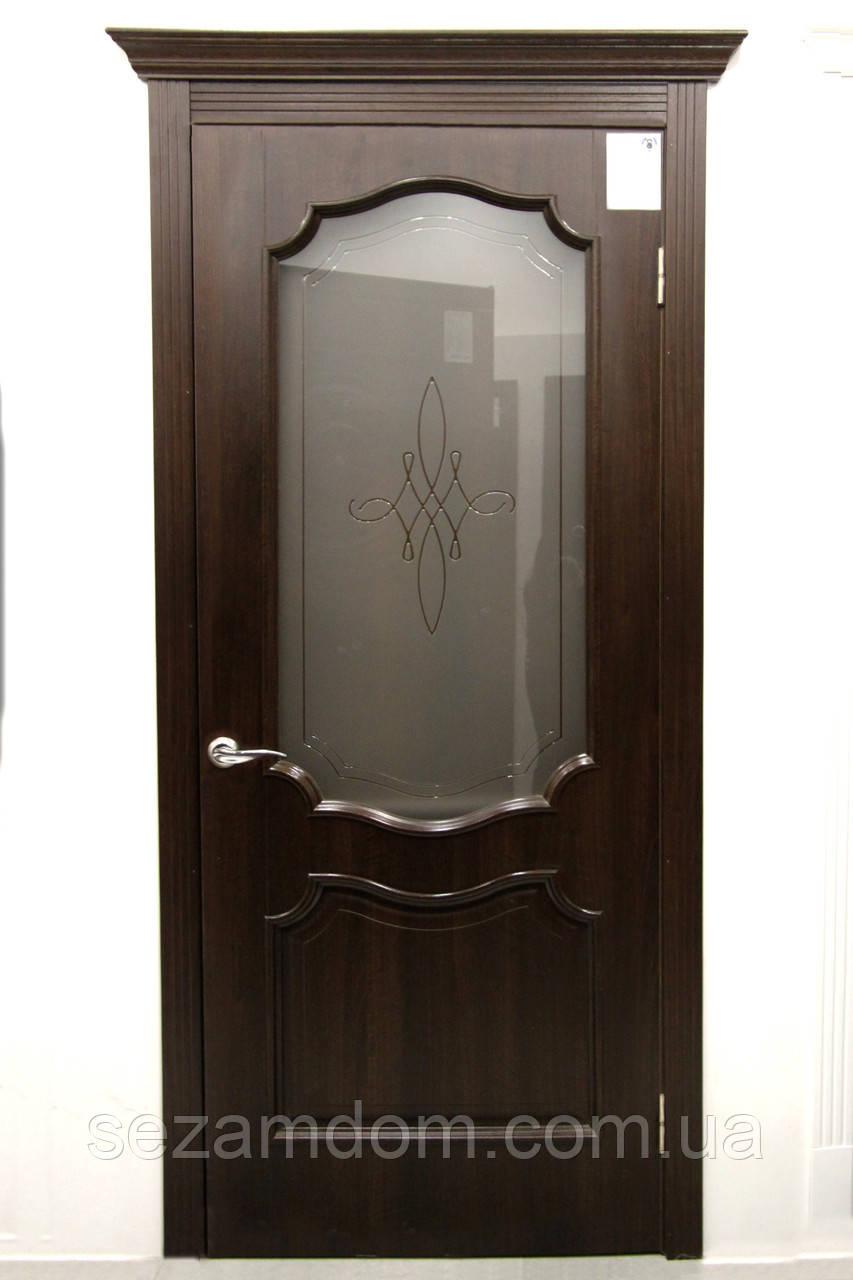Дверь межкомнатная РОКА СО СТЕКЛОМ САТИН И РИСУНКОМ №1