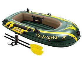 Надувная лодка Intex 68347 Seahawk 2 Set 236x114 комплект