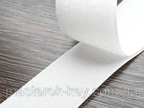 Липучка усиленная для одежды и обуви метражная Ширина 5см цвет белый