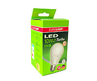 Диммируемая LED Лампа Eurolamp TURBO NEW A60 10W E27 4000K