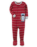 Чолвічок Football Snug Fit Cotton PJs Єнот Carter's для мальчика бордовий 6 мес/61-67 см