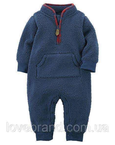 Комбинезон Sherpa Jumpsuit Carter's для мальчика синий 24 мес/83-86 см